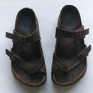 Birkenstock Mayari Brown Leather Sandals